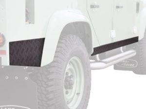 Land Rover Defender 110 (1983-2016) Schwellerschutz / schwarz – von Front Runner