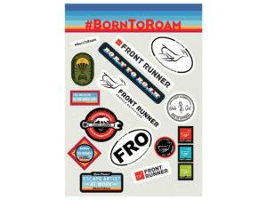 Born to Roam Sticker Set – von Front Runner